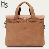 Guaranteed 100% Genuine Leather New arrival Handmade High quality Wear-resisting Crazy horsehide Men handbag fashion vintage