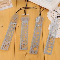 10pcs/lot Multifunctional Creative Metal Bookmarks Animal Design Ruler Delicate Gift Bookmarks For School Student Books 7*6.6cm