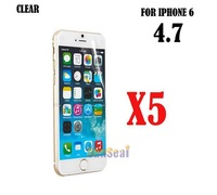 """5pcs Clear Screen Protector Cover, Front Screen Protector Film for Iphone 6 Air 4.7"""" Without Retail Package"""