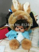 19cm FREE SHIPPING For Girl Kawaii Cute Monchhichi Doll Peter Rabbit Stuffed Animal Bugs Bunny Plush Toy Birthday Gift Souvenir