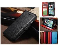 Leather Case For iPhone 6,Popular Litchi Pattern Leather Wallet Mobile Case for iPhone6 6g 4.7 inch,with Card Holder,50pcs/lot