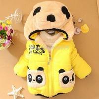 New 2014 Children Outerwear Baby Girls Coat Kids Warm Clothes Zipper Panda Boys Clothes Child Autumn Clothing