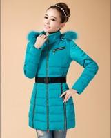 2014 winter parkas womens cotton-padded jacket black plus size women clothing female wadded jackets pink ladies blue jackets