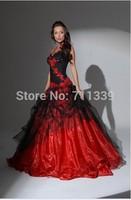 Love Ball gown Sweetheart Quinceanera Dress Organza Applique Spaghetti Strap Wedding GOWN