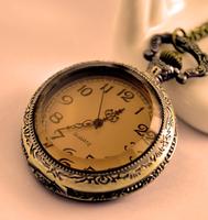 New fashion queen big tea mirror pocket watch vintage sweater chain pocket watch
