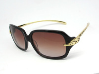 Free shipping new fashion 1:1 all-match brand vintage women's leopard head big box sunglasses CA0604S