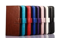 High quality crazy horse Pu leather wallet case cover for Nokia Lumia 530
