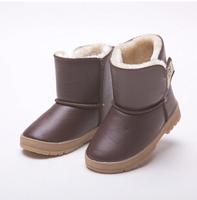 2014 NEW autumn  winter warm children snow boot Knee-High Thicken boys and girls cotton boots fashion keep warm kids shoes Q186