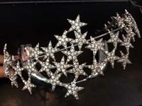 2014 Sale Tiaras Tiara Noiva Wedding Free Shipping High Quality Korean Rhinestone Star Sparkling Middle For Bride And Gift