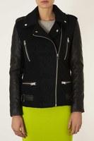 FS2860 Winter New Arrival Fashion Good Quality Patchwork Wool Blend Long Sleeve Cool Zipper Jacket Coat
