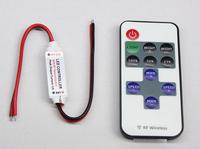 MINI RF wireless Remote LED Controller  DC12V 11Keys Mini LED Dimmer for Single Color LED Strip,small led controller free ship