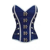 New Design Vintage Gothic White Lace Waist Training Corset Overbust Plus Size Available