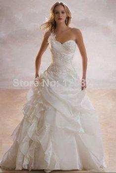 Свадебные платья noiva! дешевые цена! высокое качество! 2015 новое поступление бесплатная доставка милая белый / слоновая кость свадебные платья OW4042