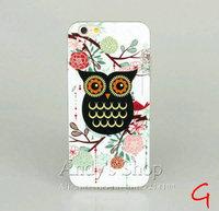 Fashion Gold Powder Cartoon Cute Owl Family  Soft TPU Cases for iPhone 6 (4.7 inch)