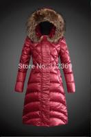 Luxury Big Fur Collar 2015 New Winter Jacket Women Slim Down Jacket Ladies Zippers Plus Size Down Coats Brand Lady Down Parka