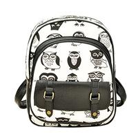 OWL children printing backpacks women travel bags girl cartoon bag brand shoulder bags canvas school backpack School bag Z5