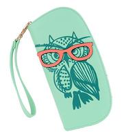 New Arrival Cute Owl Stereoscopic 3D Zipper Cartoon Long Women Wallet Ladies' Clutches Short Change Purses Card Holders Z55