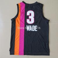 Free Shipping, #3 Dwyane Wade Men's American basketball jerseys .super wade new basketball jerseys size s-2XL