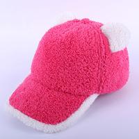 2014 New coral Fedora winter lady sexy hip-hop cap Women baseball cap Cacalia plush velvet hat wholesale 5 colors
