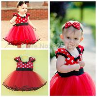Retail,1pcs New Girl Kids Toddler Newborn Baby Party Polka Dot Dresses Layered Tutu Clothing Fashion infant Children clothes