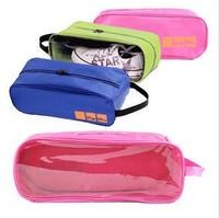 Semi-transparent shoe bag portable waterproof shoes organizer business travel sundries bag 2pcs high quality Free Shipping
