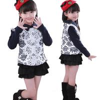 Brand New Children Outerwear Fall Winter Clothing Girls Blouse Girl Frozen Dress Kids Clothes Saias Vestidos De Menina