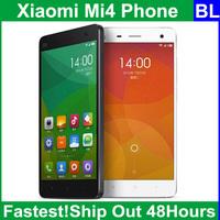 "Original Xiaomi Mi4 Mi 4 M4 Cell Phones Qualcomm Snapdragon 801 Quad Core 5.0""1920X1080P Screen 3GB RAM 16/64GB ROM 13MP MIUI V6"