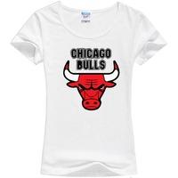 2014 summer famous brand  bulls print cotton women t-shirt casual t shirt top tee short sleeve fashion cool t-shirt