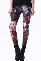 2014 New Arrival Fashion Free Size Stylish Frozen Print Leggings Women Pants Summer Winter Autumn