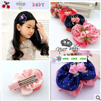 Freeshipping!New Girls/Kids/Infant/Baby  rose Barrette/ Hairclamp&BB hairpin/Hairclip/Hair Accessories,ZXM031