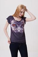 Drop Shipping Roupas Femininas New Womens Tops Fashion 2014 Design 3D Metal Eagle Plus Size Casual Basic T shirt Sexy Loose Top