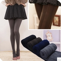 Min.order is $5 (mix order)Free Shipping. Autumn and winter thick velvet pantyhose  vertical stripes leggings OW102