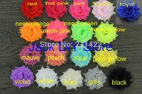 "free shipping 120pcs/lot 18colors 1.5""shabby chiffon rose ,chiffon frayed flowers,hair accessories"