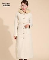 New Arrival 2014 High Quality Winter Jacket Women with Fur Collar, Fashion Winter Slim Dress Coat,Long Beyond Knee Ladies Coat