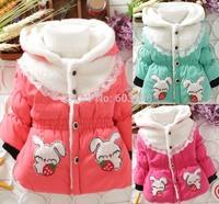 Popular Autumn Winter Warm Baby Coat Jacket Girls Coat (3Pcs/lot) Children's Cotton Outerwear[iso-14-9-15-A3]