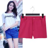 Womens Multi Candy Color Slim Body Straight Polyester Shorts Fresh Summer OL Elegant Temperament Casual Short 0869