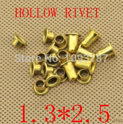 Гаджет  1000pcs /lot   Double-sided circuit board PCB vias nails 1.3*(d)*2.5(L)mm Brand New Copper Hollow Rivet None Аппаратные средства