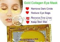 2014 Hotsale20pcs Gold Crystal collagen Eye Mask Hotsale eye patches 20pcs=10packs