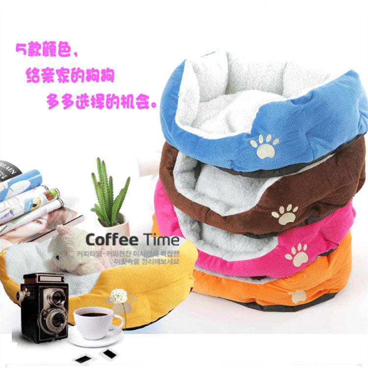 Frete grátis Cashmere -like macio quente Pet Bed Nest luxo cama de cachorro quente(China (Mainland))
