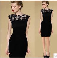 2014 blusas femininas summer and autumn desigual dresses lace wedding dress plus size evening dress casual bandage