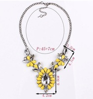 Women Delicate brand rhinestone milticolor crystal flower pendant&necklace for women