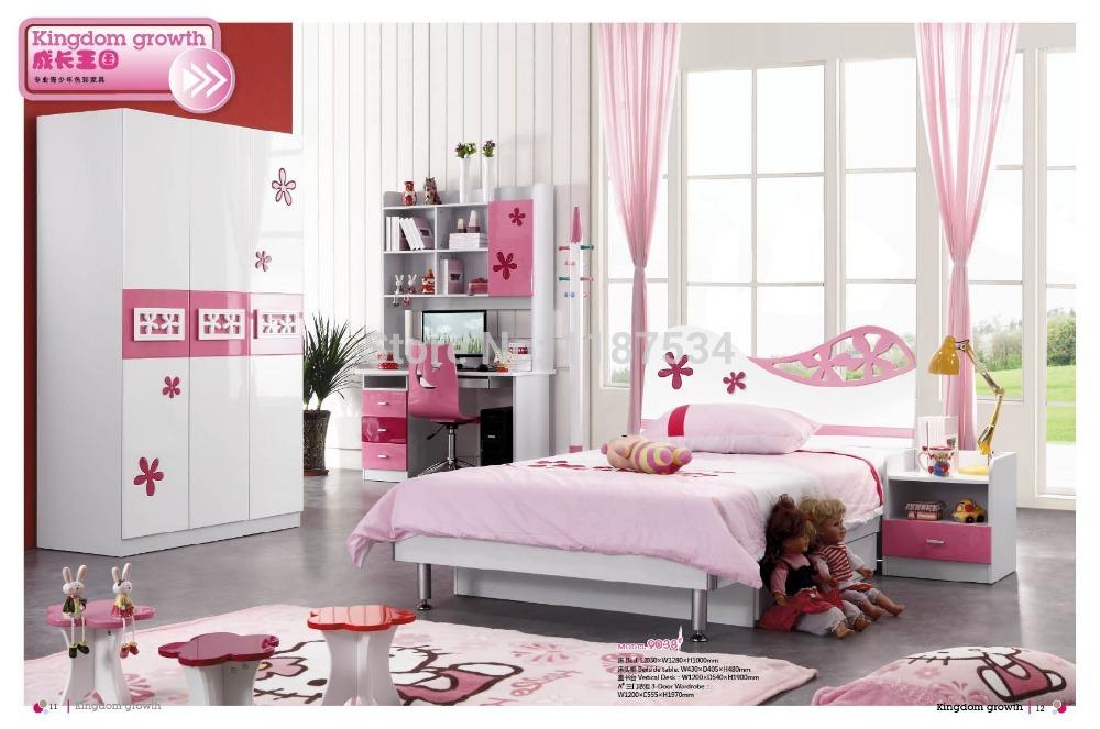 9038 Modern home furniture children bedroom furniture set wooden bed wardrobe desk chair bedside cabinet(China (Mainland))