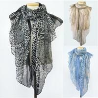 Boile Leopard Print Scarf Women New 2014 Korean Fashion Long Scarves Ladies Shawl 142