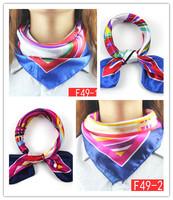 50*50cm 2014 Market selling fashion striped towel simulation slightest little Miss Fang Jin silk square scarf career