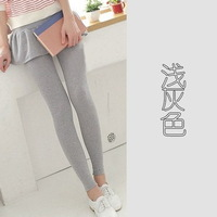 Min.order is $5 (mix order)Free Shipping. Autumn and winter  pleated swing cotton culottes false two leggings Q38