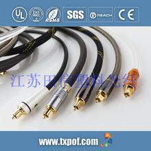 TX-TM-007 metal head plastic optical fiber cable HDMI audio cable fiber imported medical equipment cable J