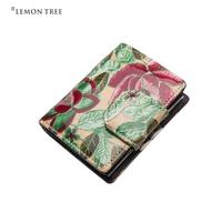 new 2014 genuine leather bag women wallets purse women clutch female fashion print flowers cowhide high quality bolsas femininas
