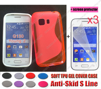 Phone bags wholesale 100% New s line gel tpu case cover For Samsung Galaxy Young 2 Young2 G130 G130H +3x screen protector