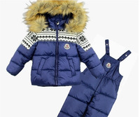 Children's winter clothing set baby's Ski suit sport sets Outdoor clothing sets windproof warm coats Jackets + trousers