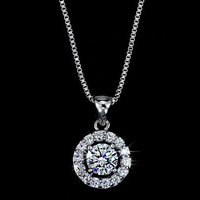 Wholesale (30 pcs/lot) Necklaces & Pendants White Gold Plated Zirconia Necklace Free Shipping